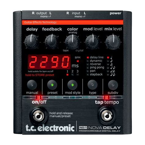 Tc Electronic Delay tc electronic nd 1 delay effektpedaler dk