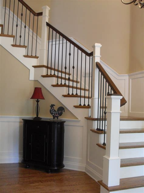 Stair Post Painted Box Newels Wainscot Iron Portland Stair Company