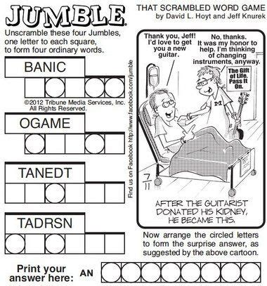 printable jumble games 7 best jumble word puzzles images on pinterest crossword
