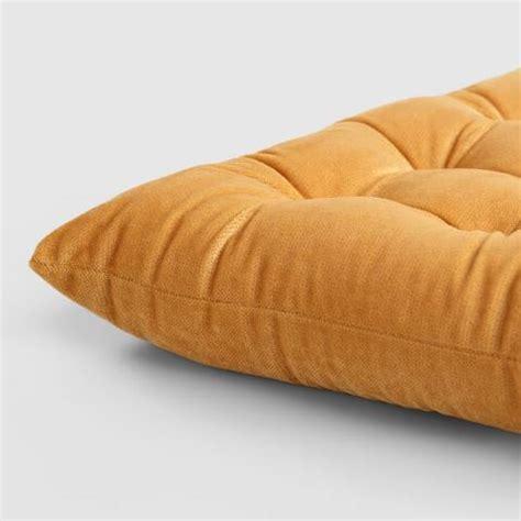 velvet bench seat cushion gold velvet chair cushion world market
