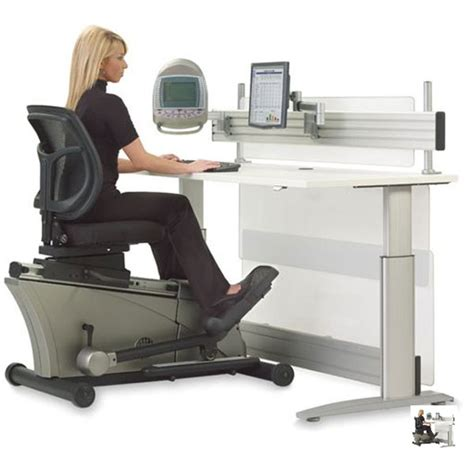 Exercise At Desk While Working by Elliptical Machine Office Desk Makes You Workout While You