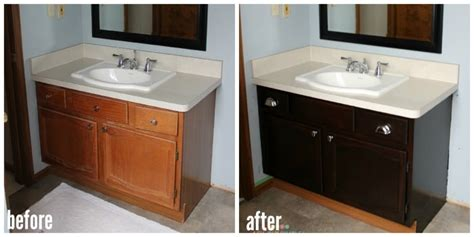 Gel Stained Cabinets Before And After by How To Use Gel Stain On Cabinets The The Bad