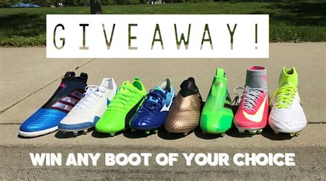 Soccer Shoes Giveaway - quot win any boot you want quot giveaway soccer cleats 101