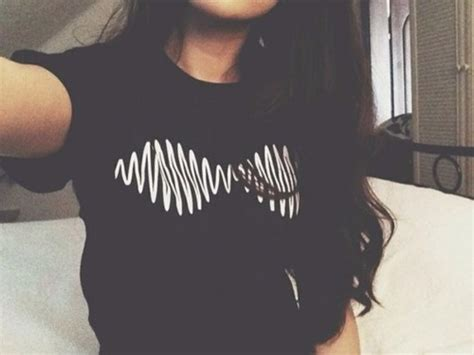 Tshirt Arctic Monkey Black shirt black white am band band album arctic monkeys