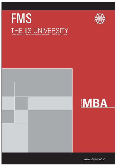 Fms Part Time Mba Eligibility Criteria by Iis Department Of Fms Jaipur Admissions