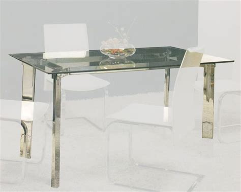 clear glass top dining table ol dt12