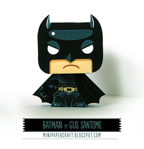 Papercraft Batman - mini papercraft batman minipaper