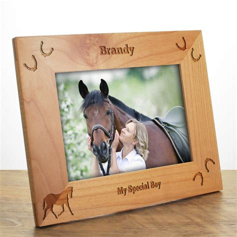 Photo Frame Pony personalised photo frame made from solid maple wood