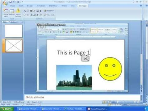 c tutorial powerpoint word 2007 tutorial 24 inserting youtube videos into word