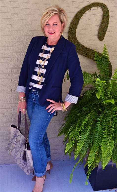 cute stylish clothes for 50 year ols cute sporty 60 year old women stripes nautical influence