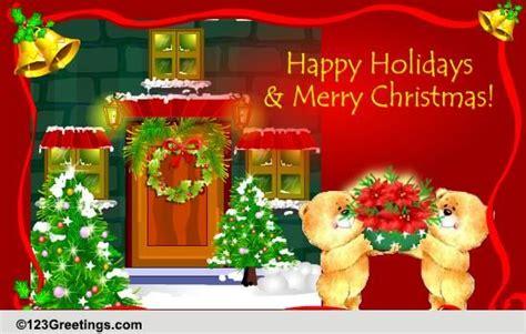 happy holidays  merry christmas  social  ecards