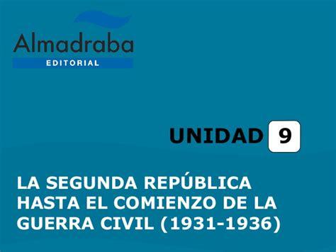 la segunda repblica 1931 1936 8477375275 tema9 segunda rep 250 blica hasta 1936