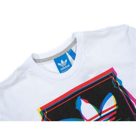 Tshirt Adidas Pattren adidas originals test pattern t shirt white mens t