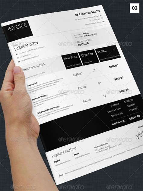 cool invoice templates cool invoice template studio design gallery best