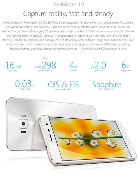 Hp Zenfone 3 4g Ze552kl 64gb Ram 4gb 5 5 In Garansi Resmi White asus zenfone 3 ze552kl 625 octa smartphones 4g n 250 cleo ram 64gb 5 4gb de impress 227 o digital de 5