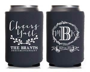 personalized koozies for wedding personalized koozies wedding koozies cheers yall monogrammed koozies floral wedding