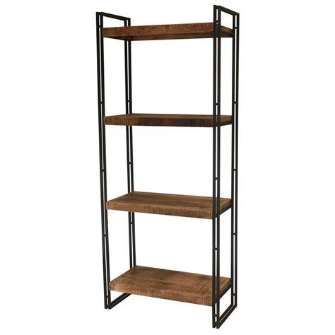 librerie a giorno libreria vintage in legno e ferro a giorno 75x183x38
