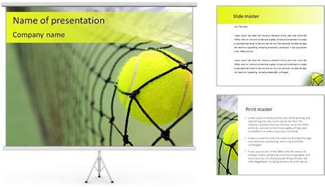 Tennis Match Powerpoint Template Backgrounds Id 0000004855 Smiletemplates Com Tennis Powerpoint Template