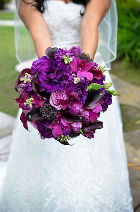 Wedding Bouquet Violet Roses by Bouquet Of Purples Purple Lisianthus Violet Roses