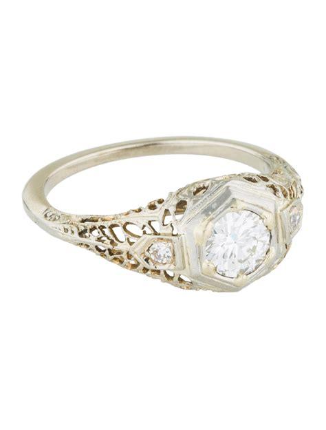 deco filigree engagement rings deco 14k filigree engagement ring rings engri20541 the realreal