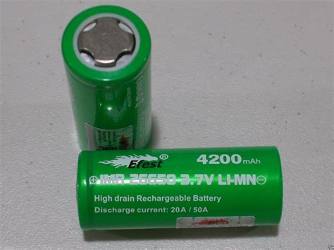 Diskon Efest Imr 26650 Battery 4200mah 3 7v 50a With Flat Top efest imr 26650 50a battery 3 7v rechargeable li mn 4200mah