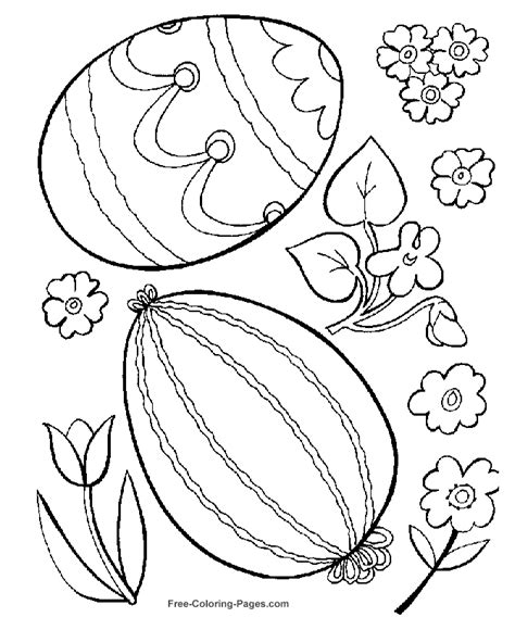 free coloring pages of easter flowers easter coloring pages eggs and flowers