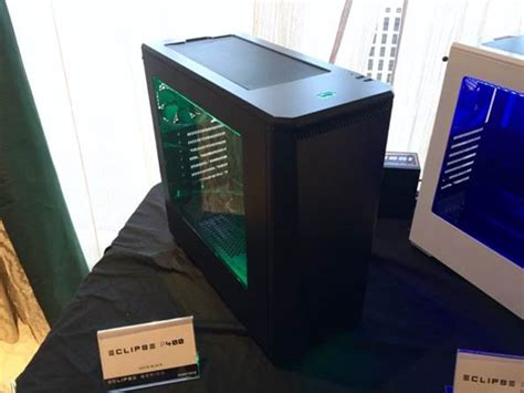phanteks announce their new p400 and p400s tempered glass windowed ces 2016 phanteks displays eclipse p400 p400s enthoo