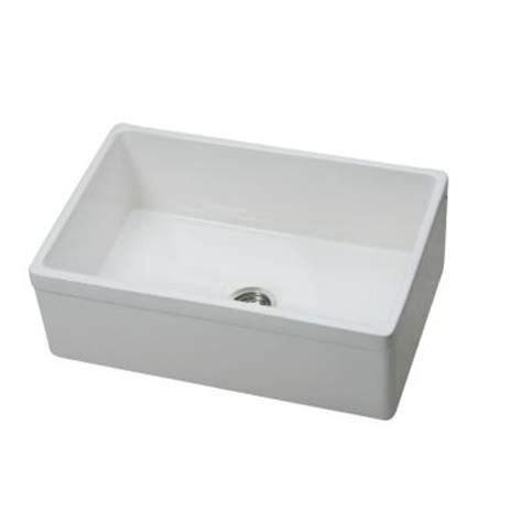 elkay explore undermount fireclay 30 in single bowl