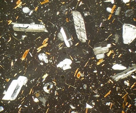 tuff thin section anatectic rhyolite tuscany italy thin section microscope