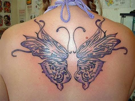 tatto kupu kupu warna tattoo kupu kupu di pundak gambar seni tattoo