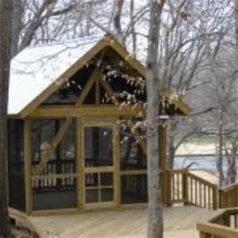 detached rustic screened porch  elevated deck proof