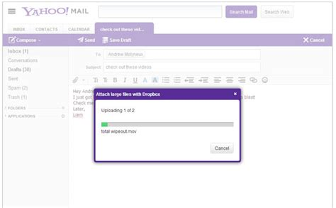 dropbox yahoo dropbox now woven into yahoo mail overcomes attachment
