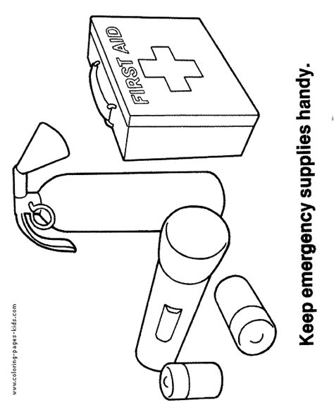 Health And Safety Color Pages Coloring Pages For Kids Safety Colouring Pages