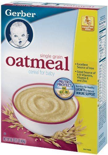 Gerber Rice Cereal Oatmeal Cereal gerber oatmeal cereal single grain