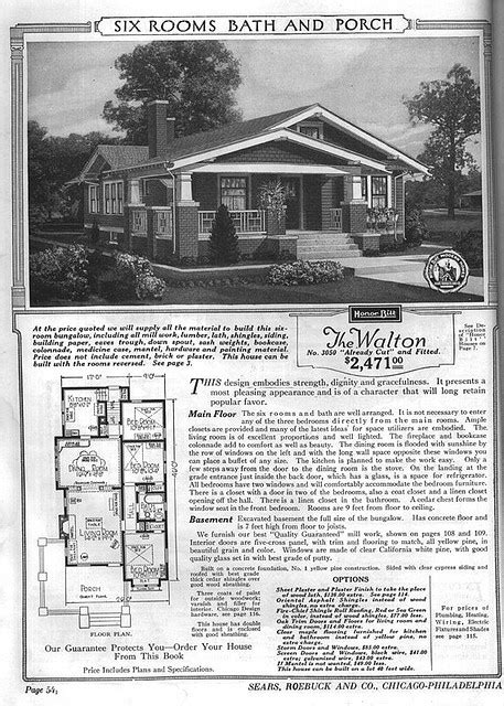avalon 1923 sears kit houses california bungalow 895 best images about historic floor plans on pinterest