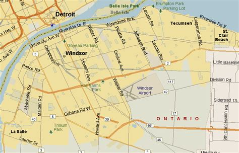Windsor Canada Map by Windsor Ontario Map Pictures To Pin On Pinterest Pinsdaddy