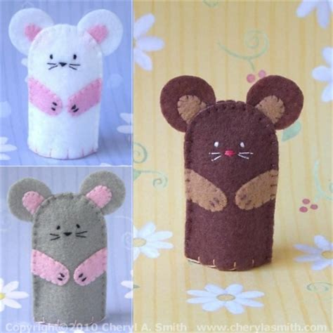 Playtime Teddy Snuggle Puppet Books mouse finger puppet handstitched mouse felt finger puppet