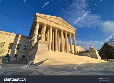 Washington Dc Court Search Washington Dc Supreme Court Building Stock Photo 100407910