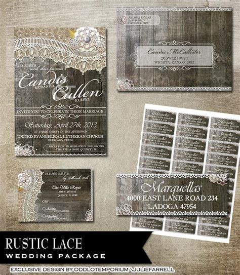 Avery Response Card Template by Rustic Lace Wedding Invitation Rsvp Envelope And Avery