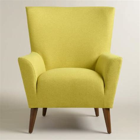 Chartreuse Chair by Chartreuse Green Finnegan Wingback Chair World Market