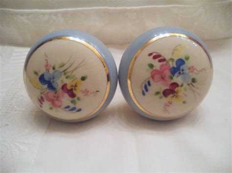 antique door knobs porcelain brass made in