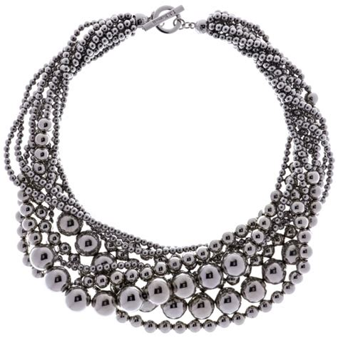 Bead L by L K Silver Bead Strand Necklace At Jewellery4