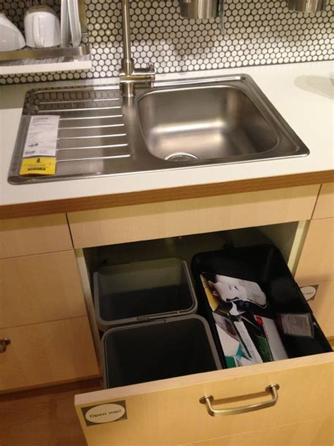under sink recycling bin bin drawer under sink only need 2 bins though 1 for