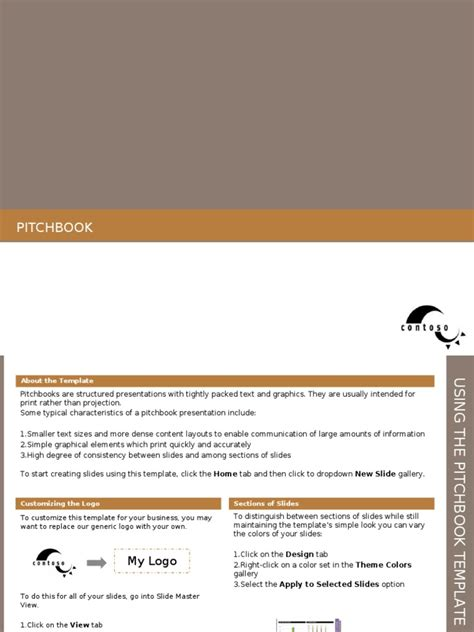 Powerpoint Pitchbook Sle Template Pack Fiscal Year Pitchbook Template