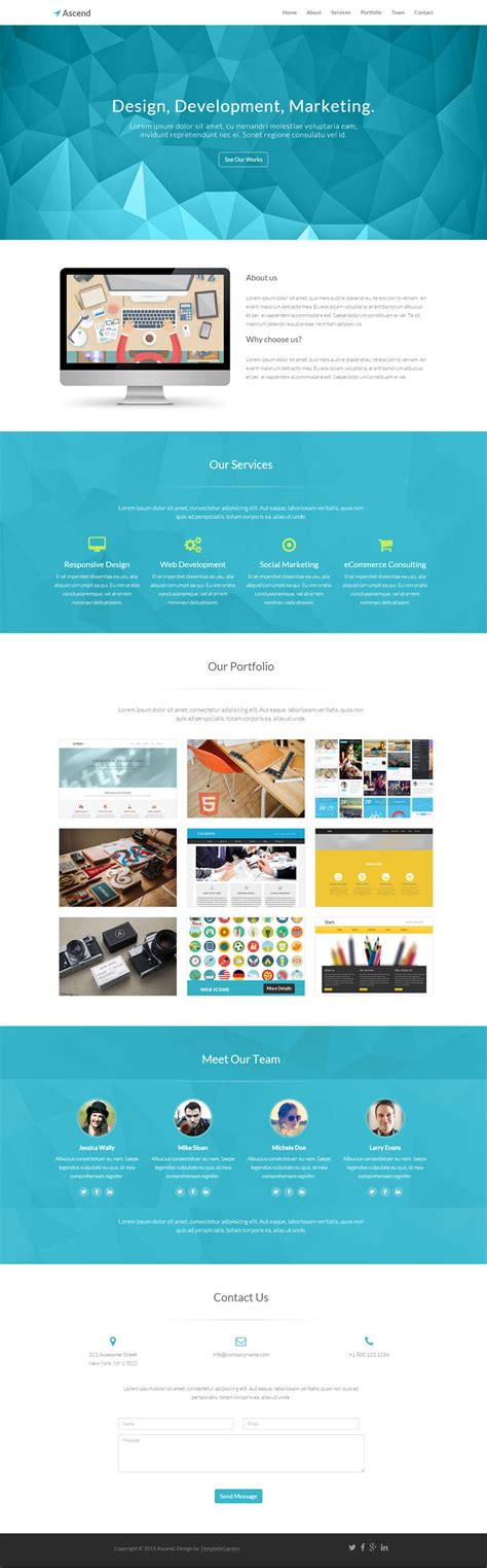 alpha one page free bootstrap template ascend free one page bootstrap template freebies fribly