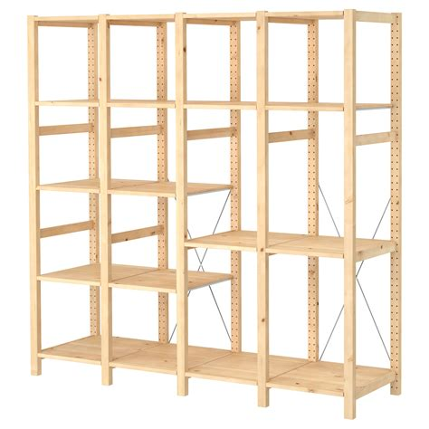 Ivar 4 Sections Shelves Pine 179x50x179 Cm Ikea Ikea Wood Shelves