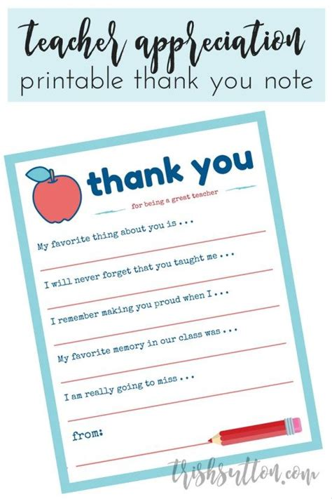 Thank You Letter For A Teachers Leaving School 44 Best Free Printable Thank You Cards Tags Etc Images On Printable Thank You