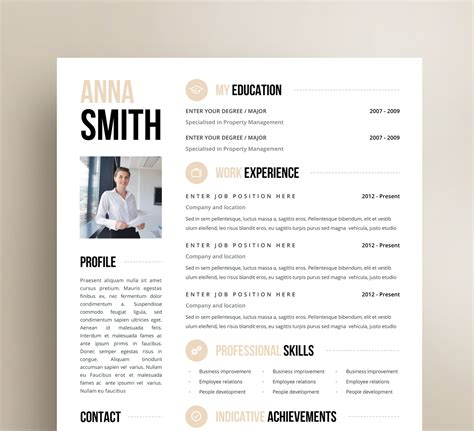 One Page Resume Template Word by Inspiration Minimalist Resume Template Word Free With One