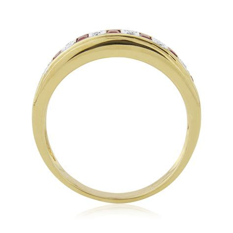 Ruby And Diamond Yellow Gold Eternity Ring
