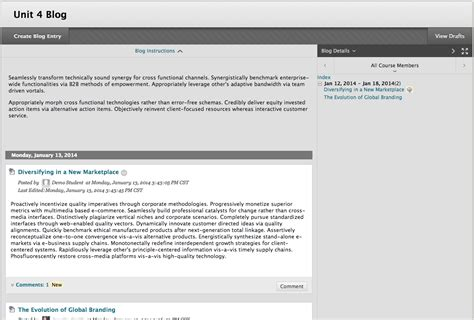 blogger support blogs blackboard student support